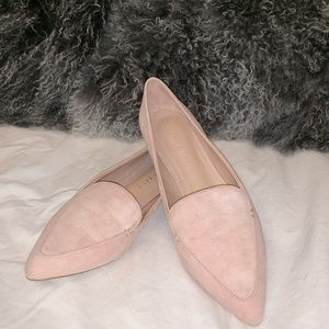 New Kelly & Katie Blush Suede Pointed Toe Flats
